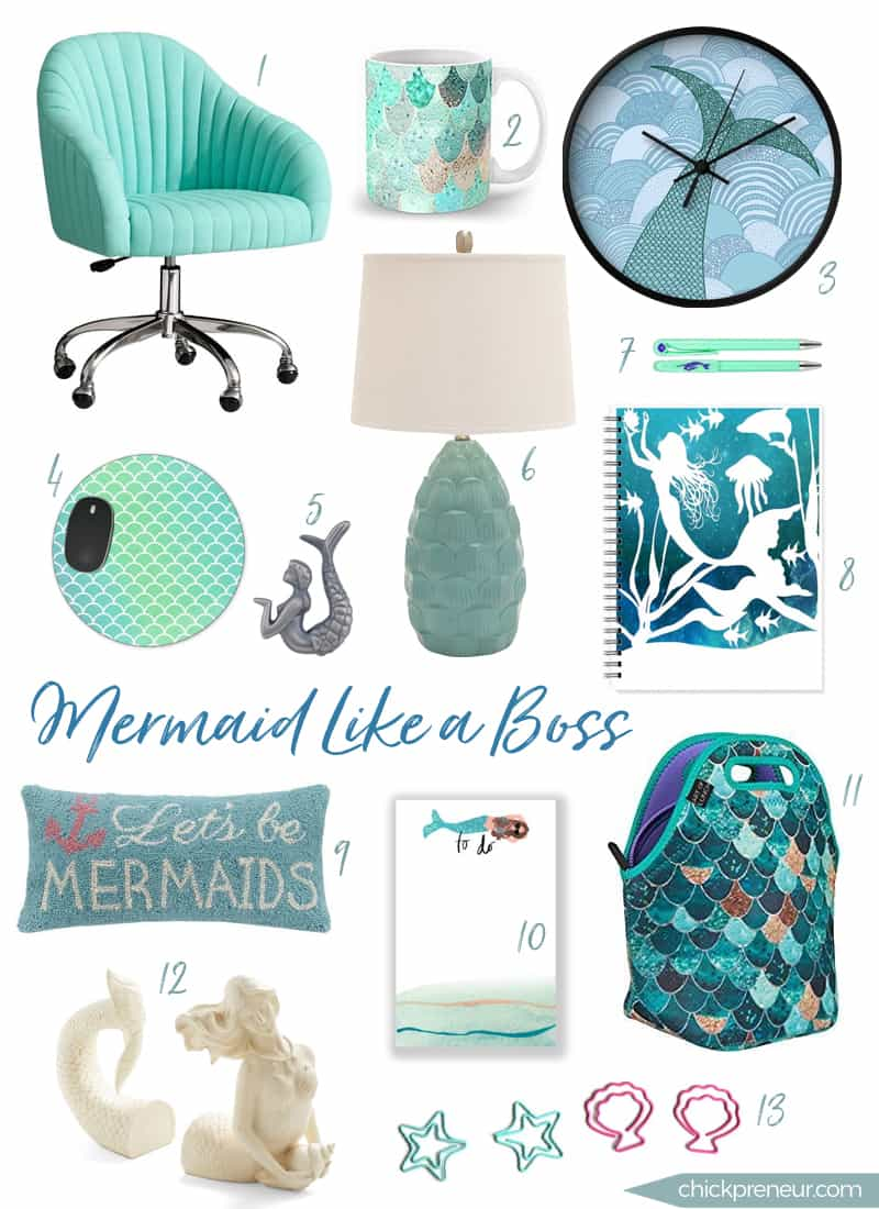 Beau Mermaid Like A Boss: Office Roundup