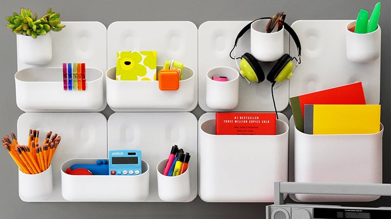Whether Youu0027re Looking To Keep Your Workspace Clutter Free Or Want Quick  Access To Your Office Essentials, The Urbio Magnetic Wall Storage System Is  An ...